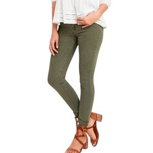 J. Crew Olive Green Toothpick Skinny Jeans Size 24